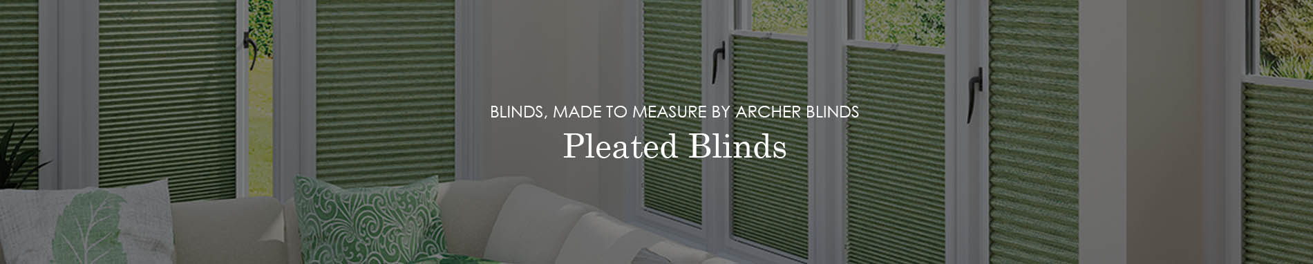 pleated blinds banner